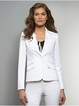 The 7th Avenue One-Button Sateen Jacket