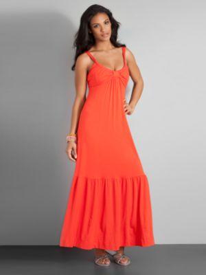 City Style Sleeveless Knit Maxi Dress
