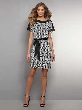 Black & White Dot-Print Dress