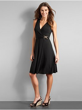 City Style Sleeveless Buckle Dress