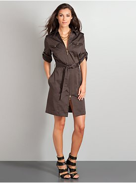 Zip Front Shirtdress