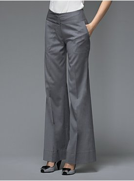 grey wide leg pants - Pi Pants