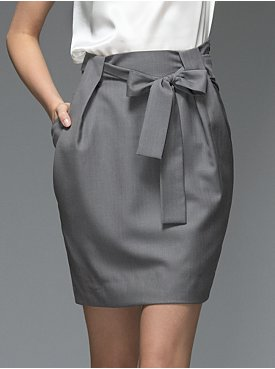 New York & Company: Collection Woven Paper Bag Skirt from nyandcompany.com