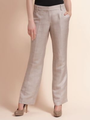 tan linen pants women - Pi Pants