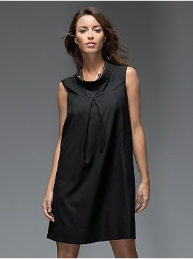 New York & Company: Collections Drape Neck Dress :  black dress holiday looks drape neck dress drape