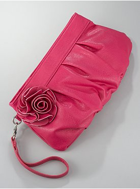 Flower & Pleats Clutch