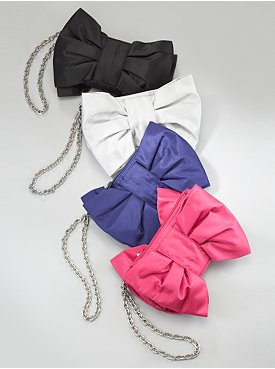 New York  & Company Chain-Strap Bow Clutch