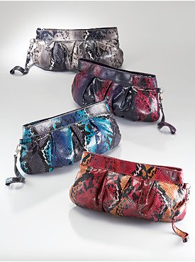New York  & Company - Handbags - Snake Clutch from nyandcompany.com