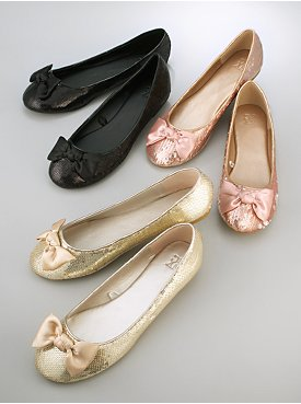 Sequin Ballerina Flat with Bow