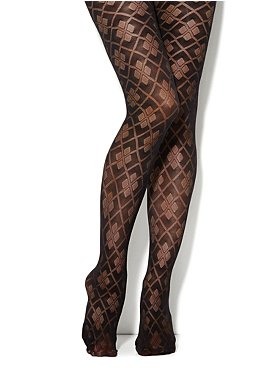 Large Argyle Patten Tights