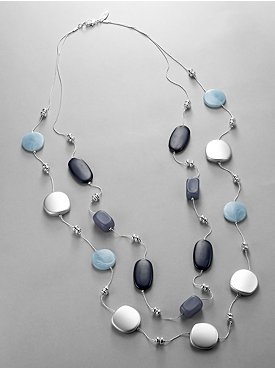 New York & Company: City Style Double Strand Bead Necklace