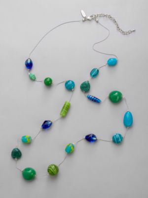 City Style Long Bead Necklace