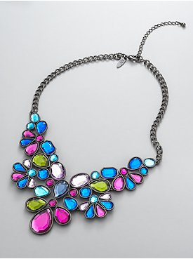 New York  & Company - View All - Peacock Bib Necklace