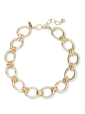 Goldtone Open-Circle Chain-Link Necklace