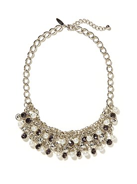 Faceted Beads Multi-Strand Bib Necklace