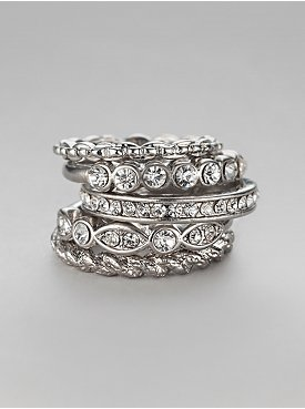 Glittering Stackable Rings
