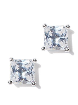 Shimmering Emerald Cut Stud Earrings