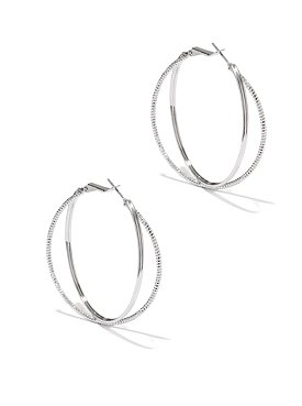 Double-Hoop Criss-Cross Earrings