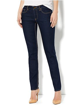 Curvy Skinny Leg Jean - Dark Midnight Wash - Tall
