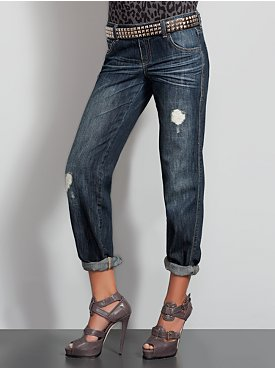 New York  & Company - Distressed Boyfriend Jeans from nyandcompany.com