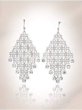 New York & Company: City Bright Collection - Mesh Chandelier Earrings