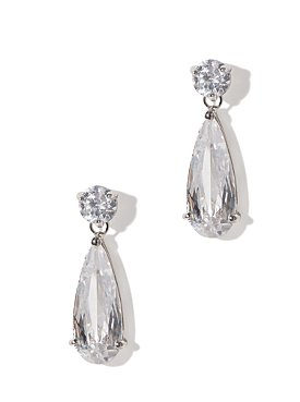 City Bright Cubic Zirconia Teardrop Earrings