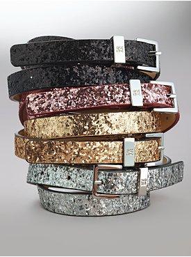Sparkle Skinny Belt