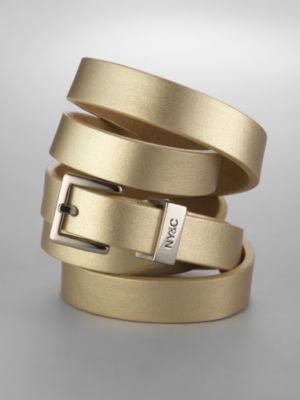 City Style Gold Metallic Belt
