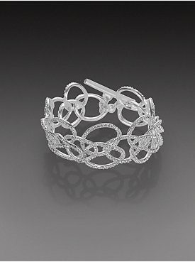 New York & Company: City Bright Collection - Linked Pave Ovals Bracelet
