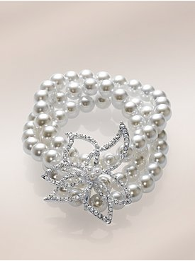 New York & Company: City Bright Collection - Pearl Stretch Bracelet