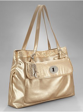 New York  & Company - Sequin Trim Tote :  new york amp company metallic tote bag metallic tote bag