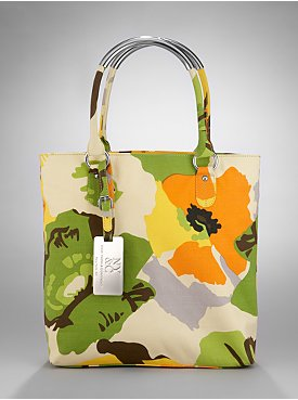 New York & Company: City Style Metal Handle Floral Mini Tote