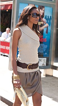 New York  & Company - As Seen In NY - One Shoulder Sweater  & Skirt