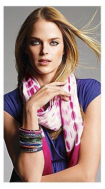 New York & Company: Scarves & Stackable Bracelets