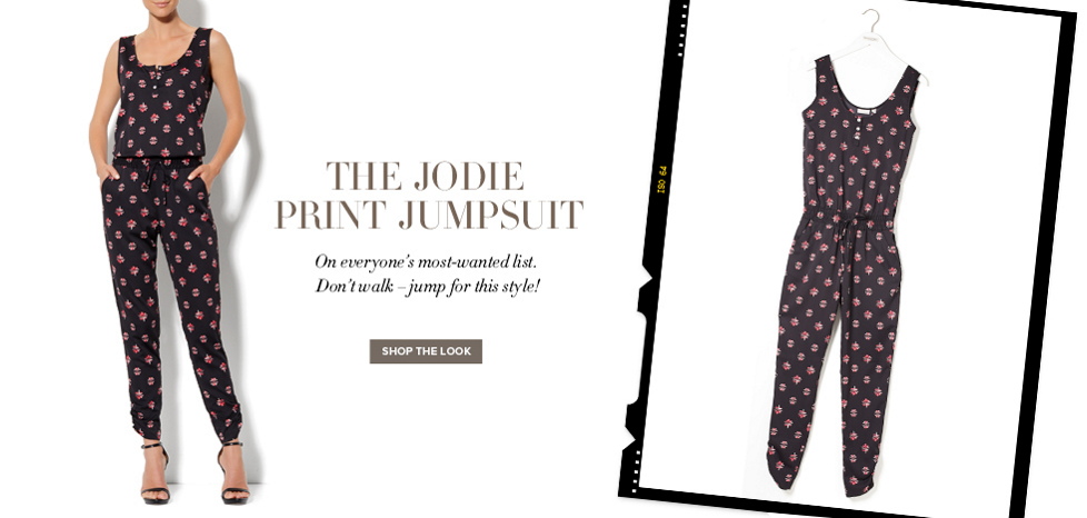 Jodie Print Jumpsuit - New York & Company