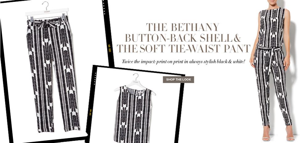 Bethany Shell & Soft Pant - New York & Company