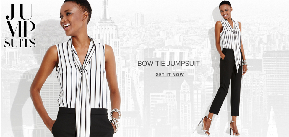 Bow Tie Jumpsuit - New York & Company