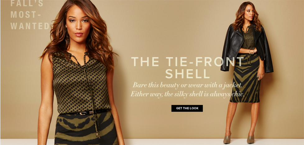 The Tie-Front Shell - New York & Company