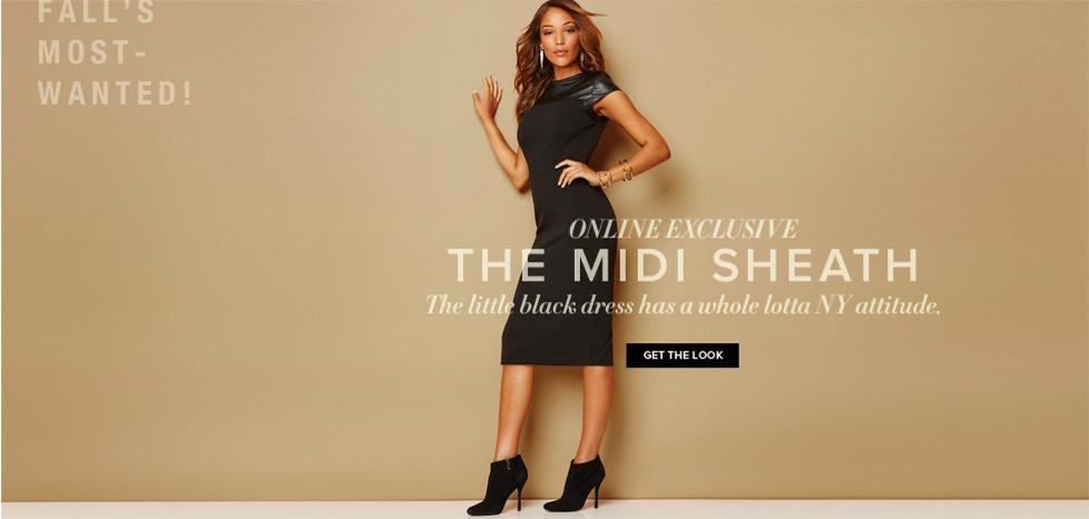 The Midi Sheath - New York & Company