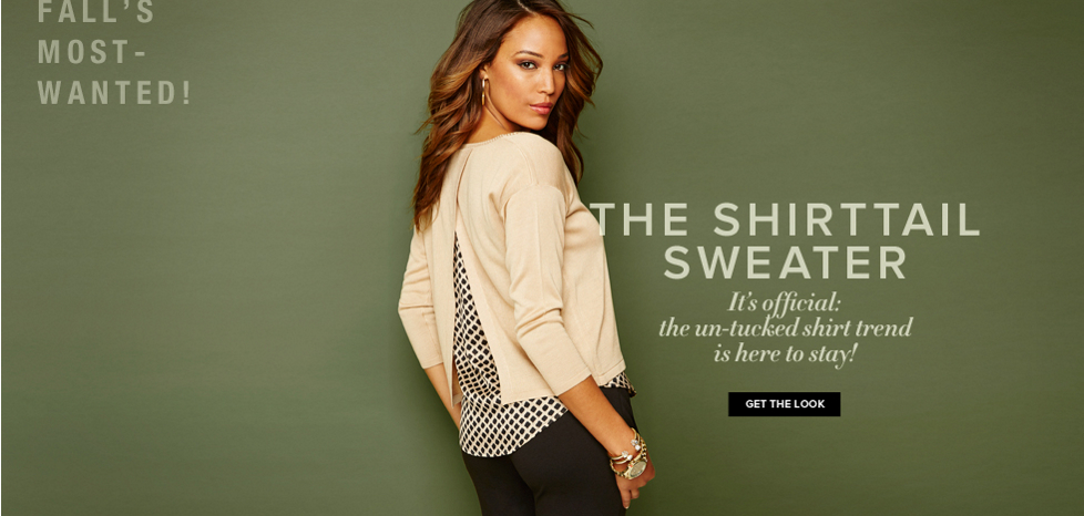 The Shirttail Sweater - New York & Company