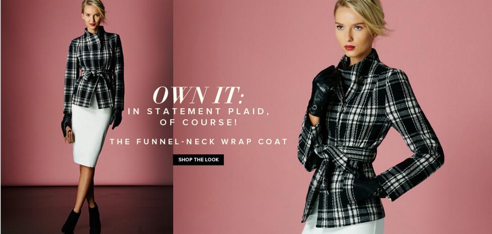 The Funnel-Neck Wrap Coat - New York & Company