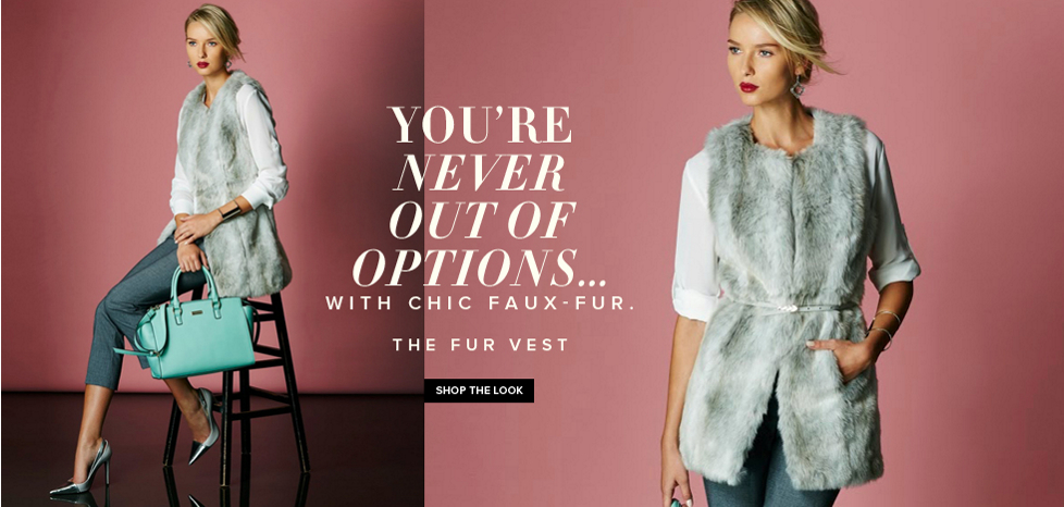 The Fur Vest - New York & Company