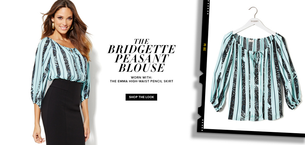 The Bridgette Peasant Blouse - New York & Company