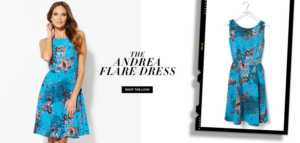 The Andrea Flare Dress - New York & Company