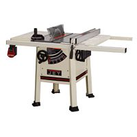 Jet® 10'' ProShop Table Saw w/Steel Wings Less Fence and Rails