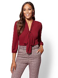 Display product reviews for 7th Avenue - Bow-Accent Blouse