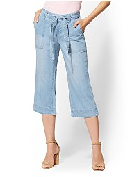 Display product reviews for Soho Jeans - Wide-Leg Gaucho Pant - Medium Blue