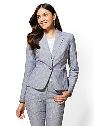 Display product reviews for 7th Avenue - One-Button Jacket - City Stretch Linen Flex