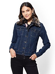 Display product reviews for Faux-Fur Trim Jean Jacket