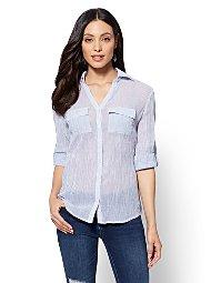 Display product reviews for Hampton Shirt - Stripe